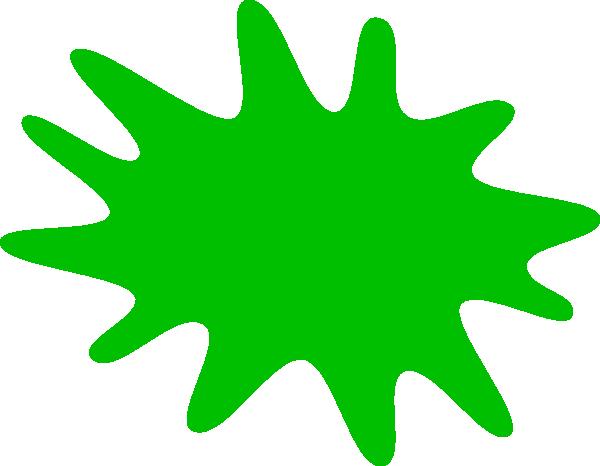 Clipart green clipart free Green Paint Splat Clip Art at Clker.com - vector clip art online ... clipart free