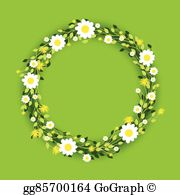 Clipart green and white and orange daisy border 70s clip art royalty free stock Daisy Border Clip Art - Royalty Free - GoGraph clip art royalty free stock
