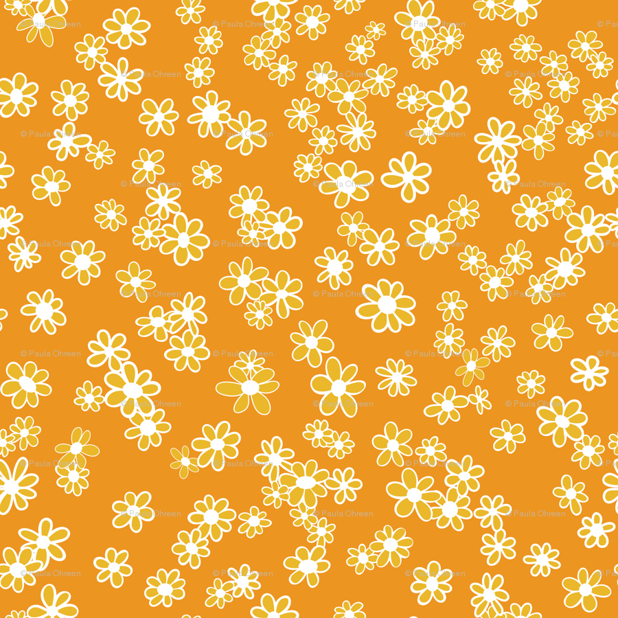 Clipart green and white and orange daisy border 70s picture library stock 70s Flowers - Orange - Mini Daisy Coordinate-02 wallpaper ... picture library stock