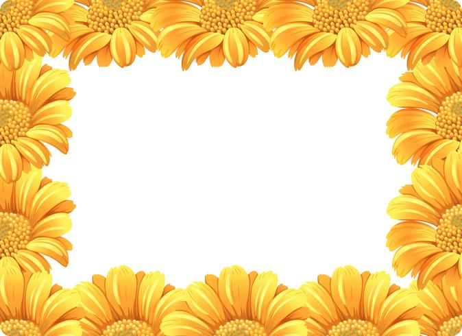 Clipart green and white and orange daisy border 70s clip free download Yellow daisy flower border Vector - Download Free Vector Art, Stock ... clip free download