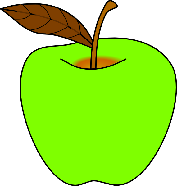 Clipart green apple graphic freeuse download Green Apple Clip Art at Clker.com - vector clip art online, royalty ... graphic freeuse download