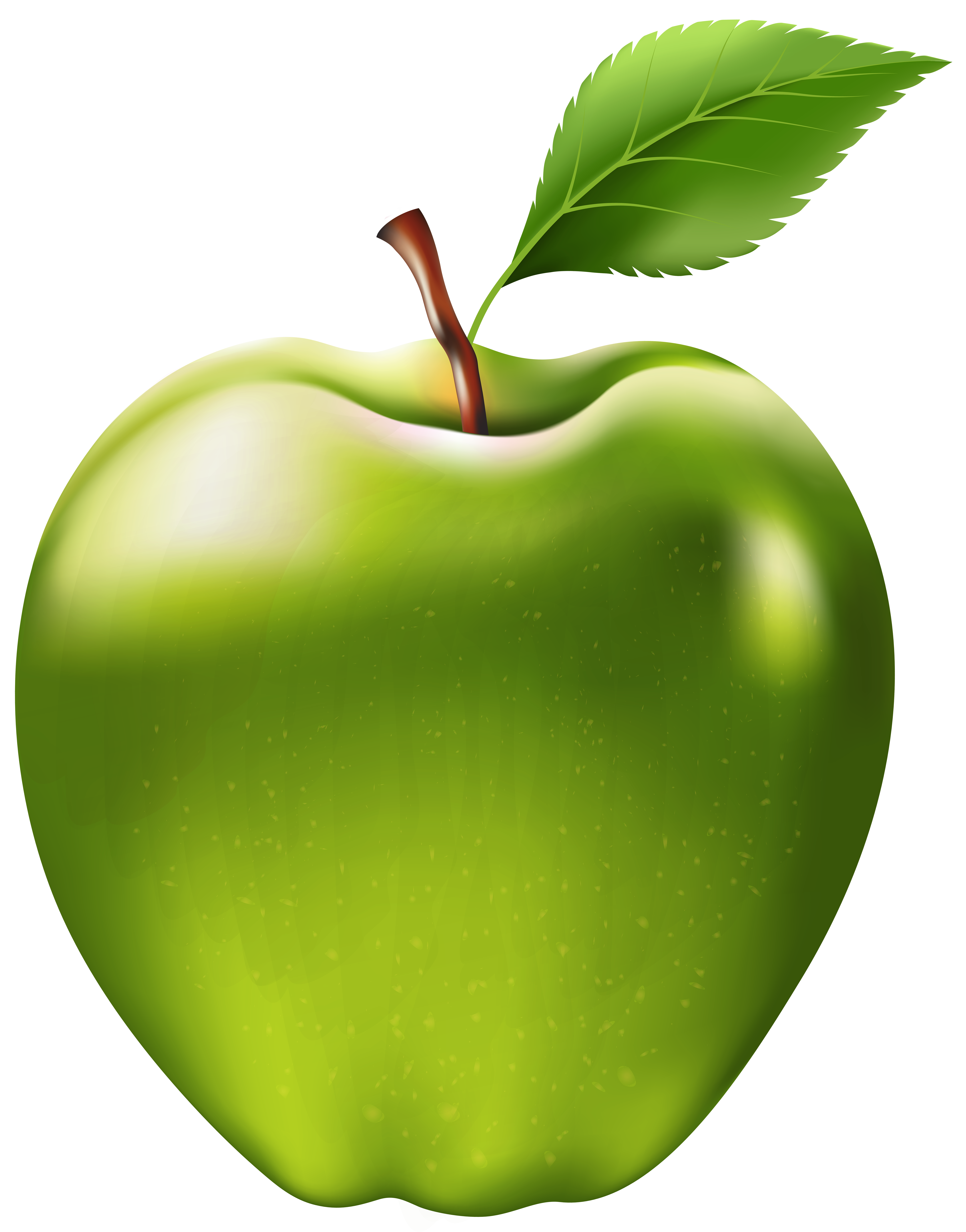 Free clipart green apple svg free stock Green Apple Transparent PNG Clip Art Image | Gallery Yopriceville ... svg free stock