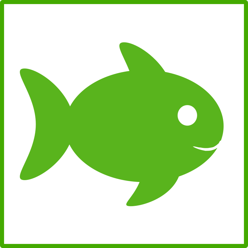 Clipart green fish transparent Free Clipart: Eco green fish icon | dominiquechappard transparent