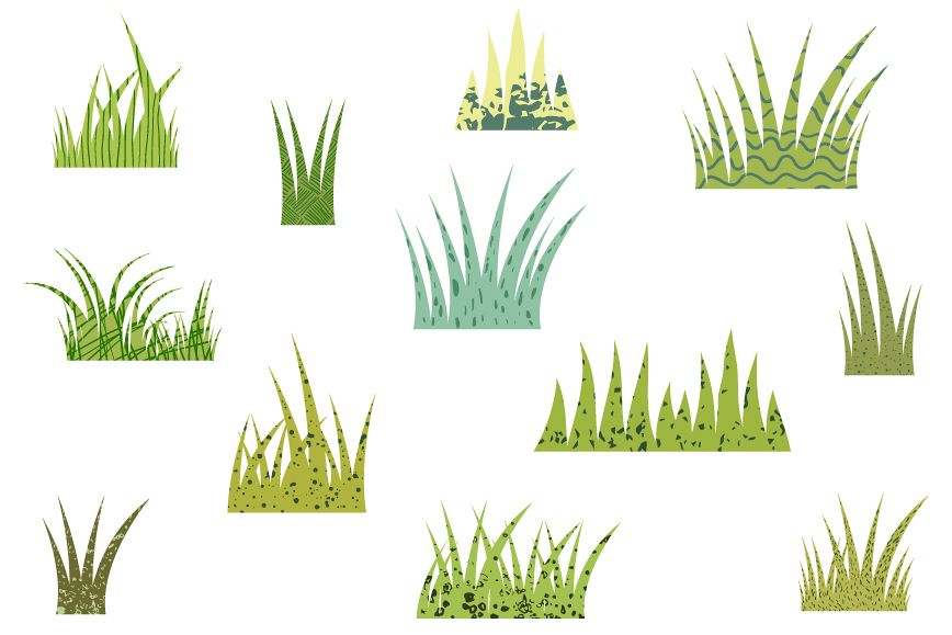 Clipart green grass clip art freeuse Green grass clipart set, Textured grass clipart clip art freeuse