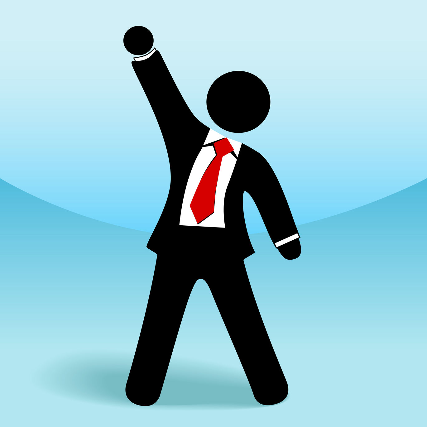 Clipart green man arms in air image download ExecuNet 6 Habits of Extraordinary Bosses image download