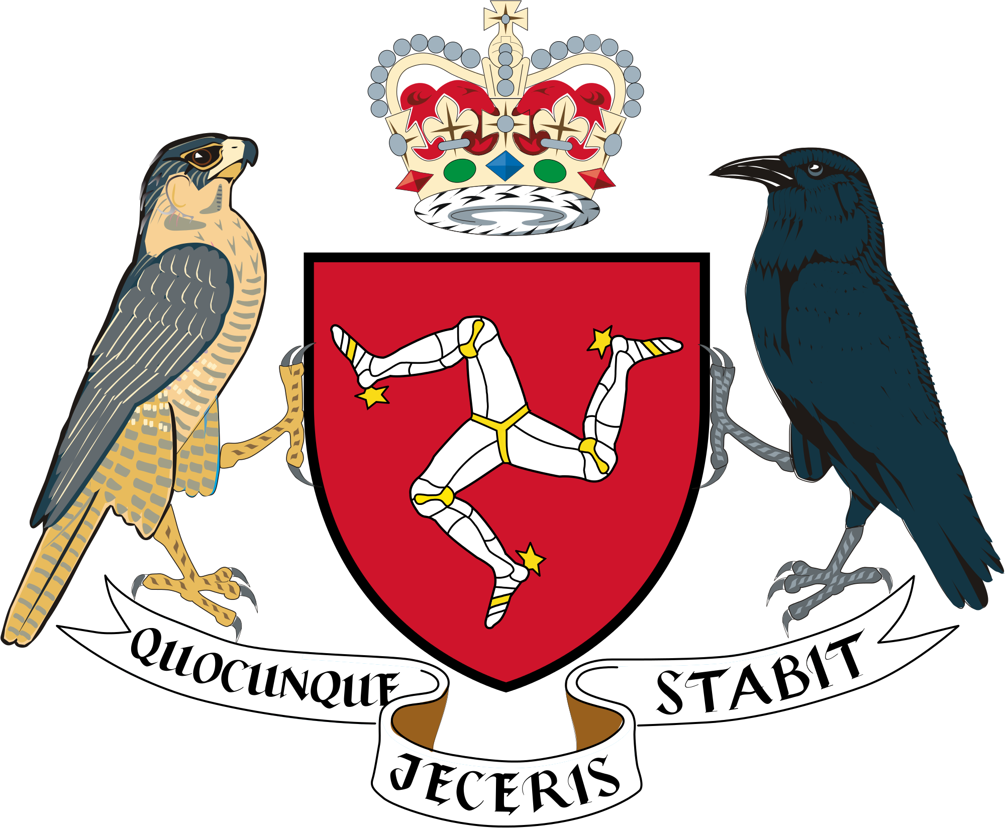 Clipart green man arms in air graphic freeuse download Coat of arms of the Isle of Man - Wikipedia graphic freeuse download