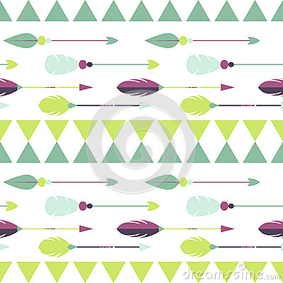Clipart green tribal arrow right vector transparent library Tribal Arrow Seamless Pattern Stock Vector - Image: 65387319 vector transparent library