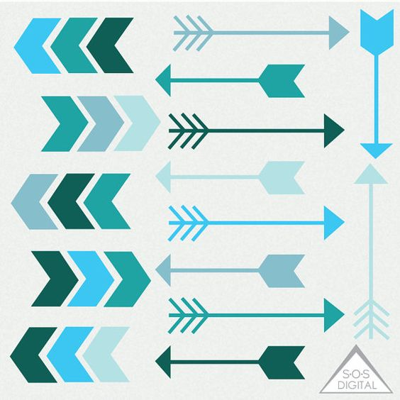 Clipart green tribal arrow right clipart Teal Arrow Clipart, Blue Arrows, Clipart Arrows, Digital Arrows ... clipart