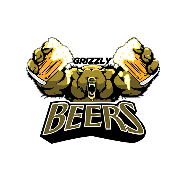 Clipart grizzlies baseball logo black and white Grizzly Beer on Pantone Canvas Gallery black and white
