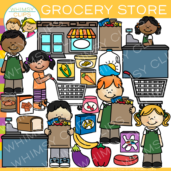 Clipart grocery freeuse Kids Grocery Store Clip Art freeuse