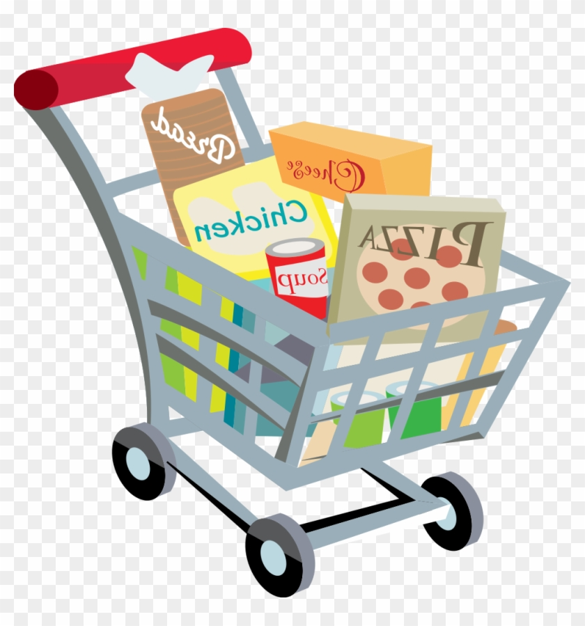 Clipart grocery cart clipart freeuse library Full Grocery Cart Clipart Shopping Cart - Transparent Grocery Basket ... clipart freeuse library
