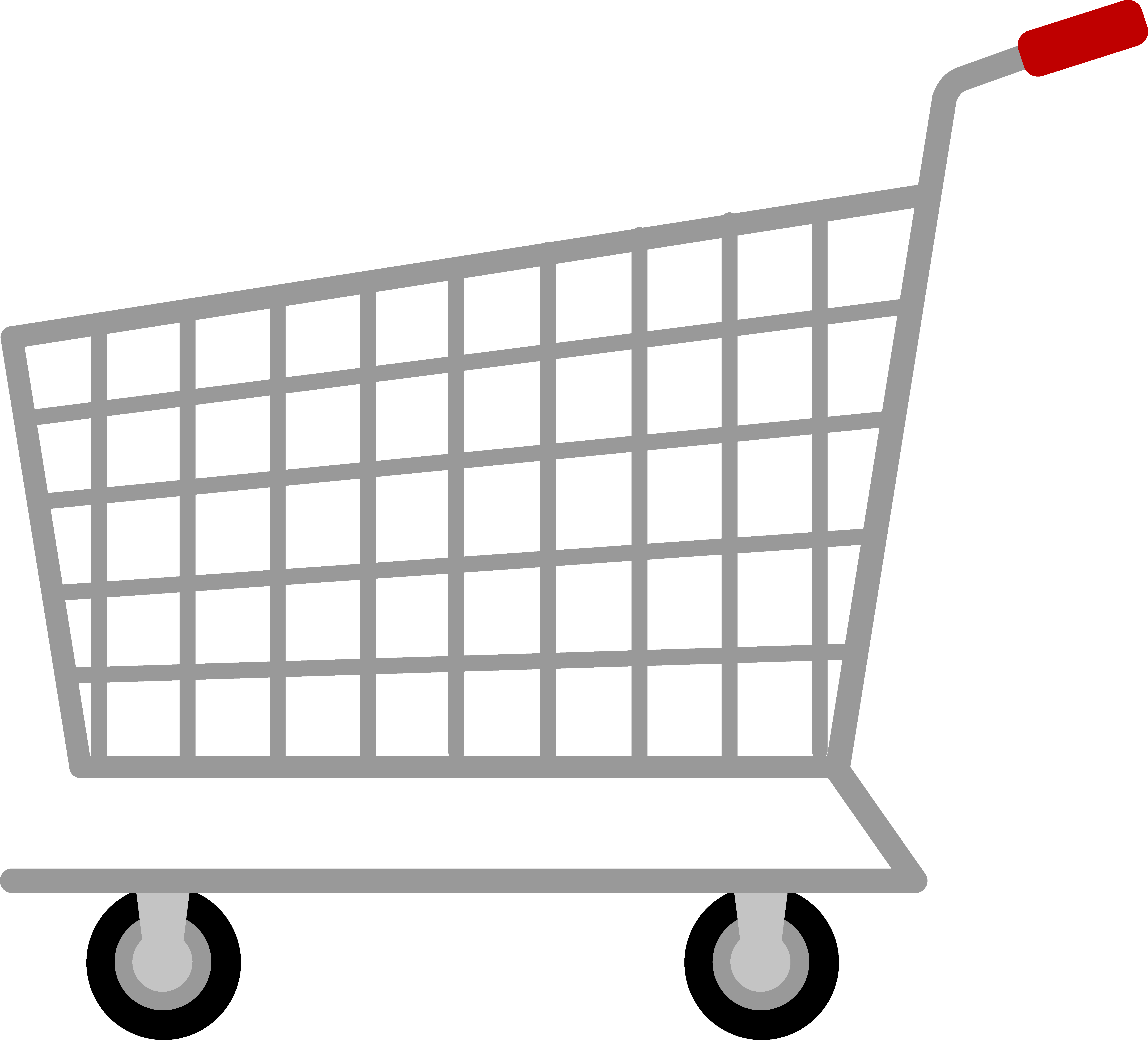 Clipart grocery cart clipart royalty free download Silver Shopping Cart - Free Clip Art clipart royalty free download