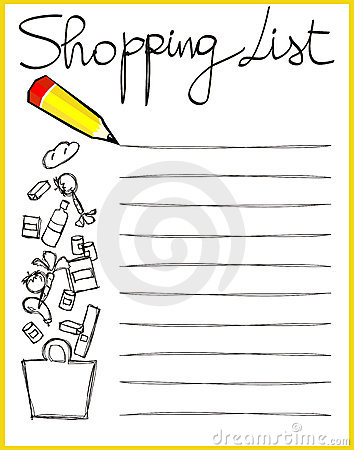 Clipart grocery list clip transparent library Clipart grocery list - ClipartFest clip transparent library