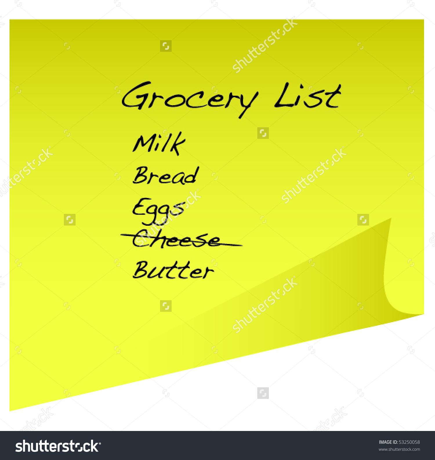 Clipart grocery list jpg Grocery list clipart - ClipartFox jpg