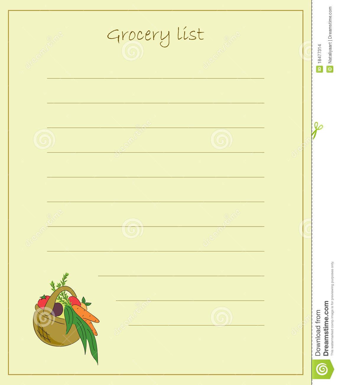 Clipart grocery list clip transparent download Grocery List Clip Art image tips clip transparent download