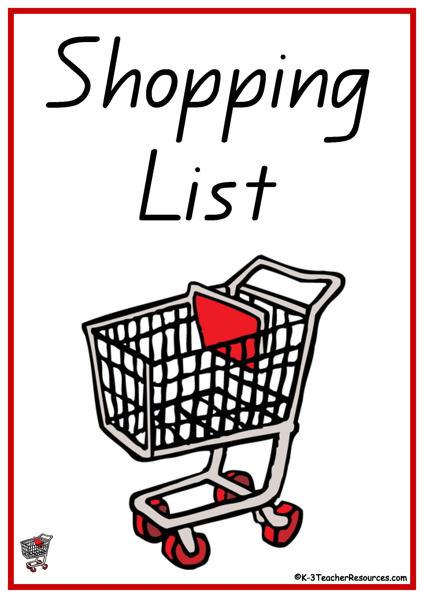Clipart grocery list clip free Shopping list clipart - ClipartFox clip free