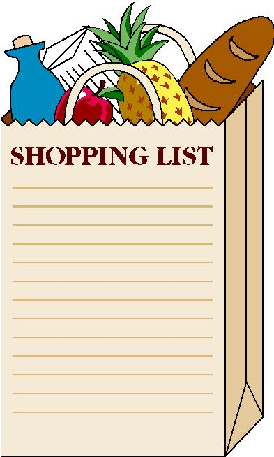 Clipart grocery list vector library stock County Market Coupon News: Make a Grocery List vector library stock