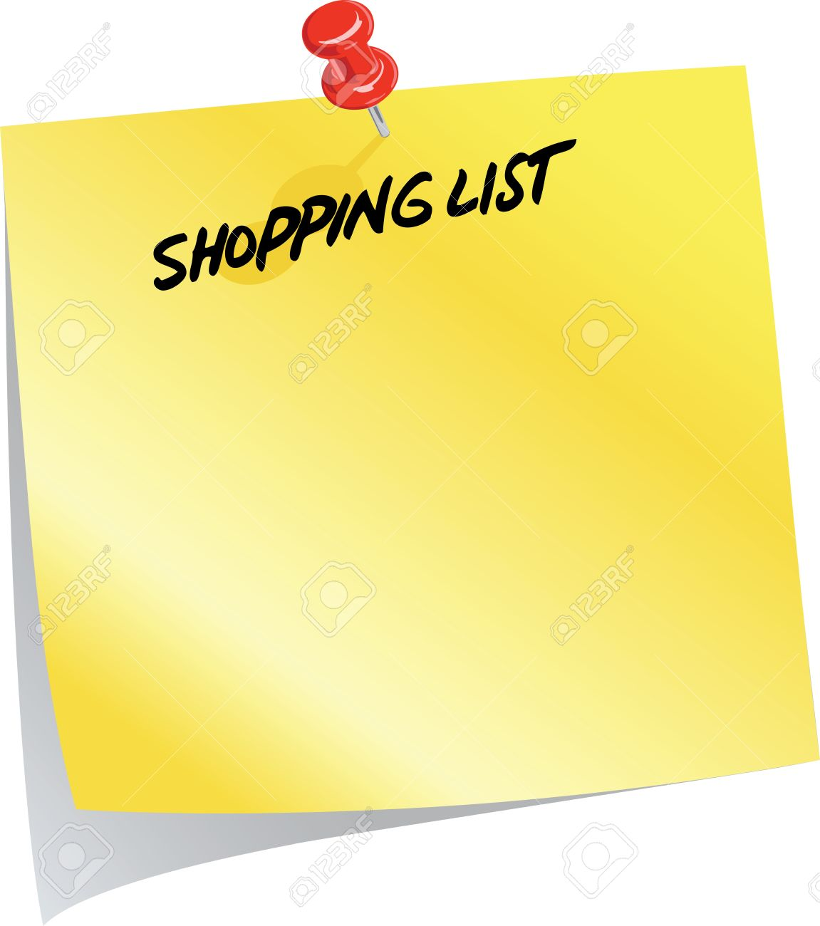 Clipart grocery list image stock Clipart grocery list - ClipartFest image stock