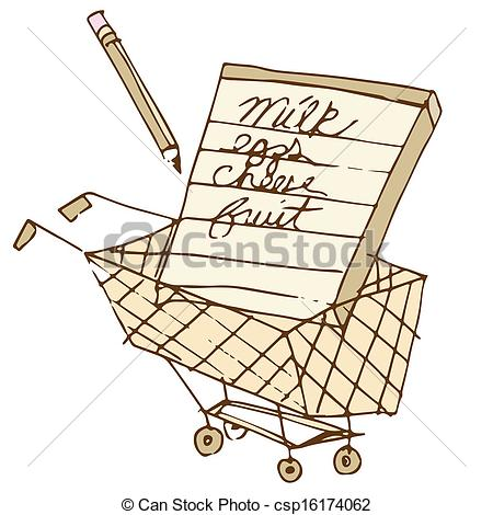 Clipart grocery list stock Grocery list Illustrations and Clipart. 376 Grocery list royalty ... stock