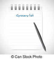 Clipart grocery list png royalty free library Grocery list Illustrations and Clipart. 376 Grocery list royalty ... png royalty free library
