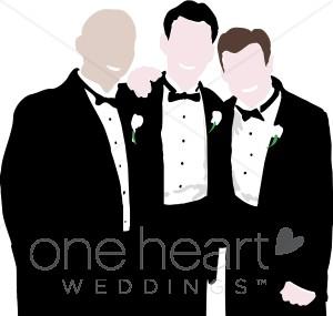 Clipart groomsmen vector black and white stock Groomsmen Clipart | Groom Clipart vector black and white stock