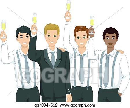 Clipart groomsmen clip art library stock EPS Illustration - Groomsmen toast. Vector Clipart gg70947652 - GoGraph clip art library stock