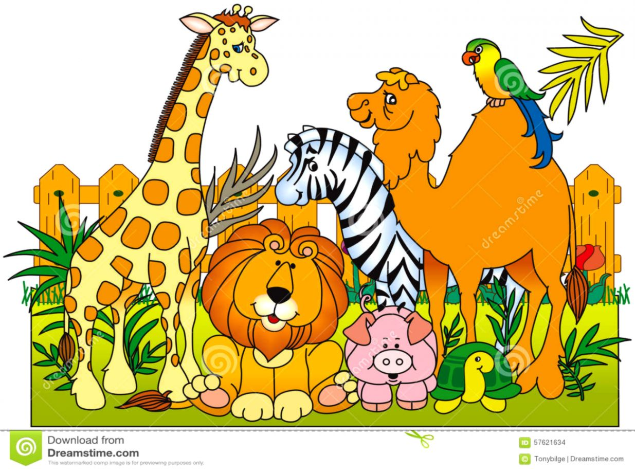 Clipart group of animals vector library download Group Of Zoo Animals Clipart | Tatoo Pictures Ideas vector library download