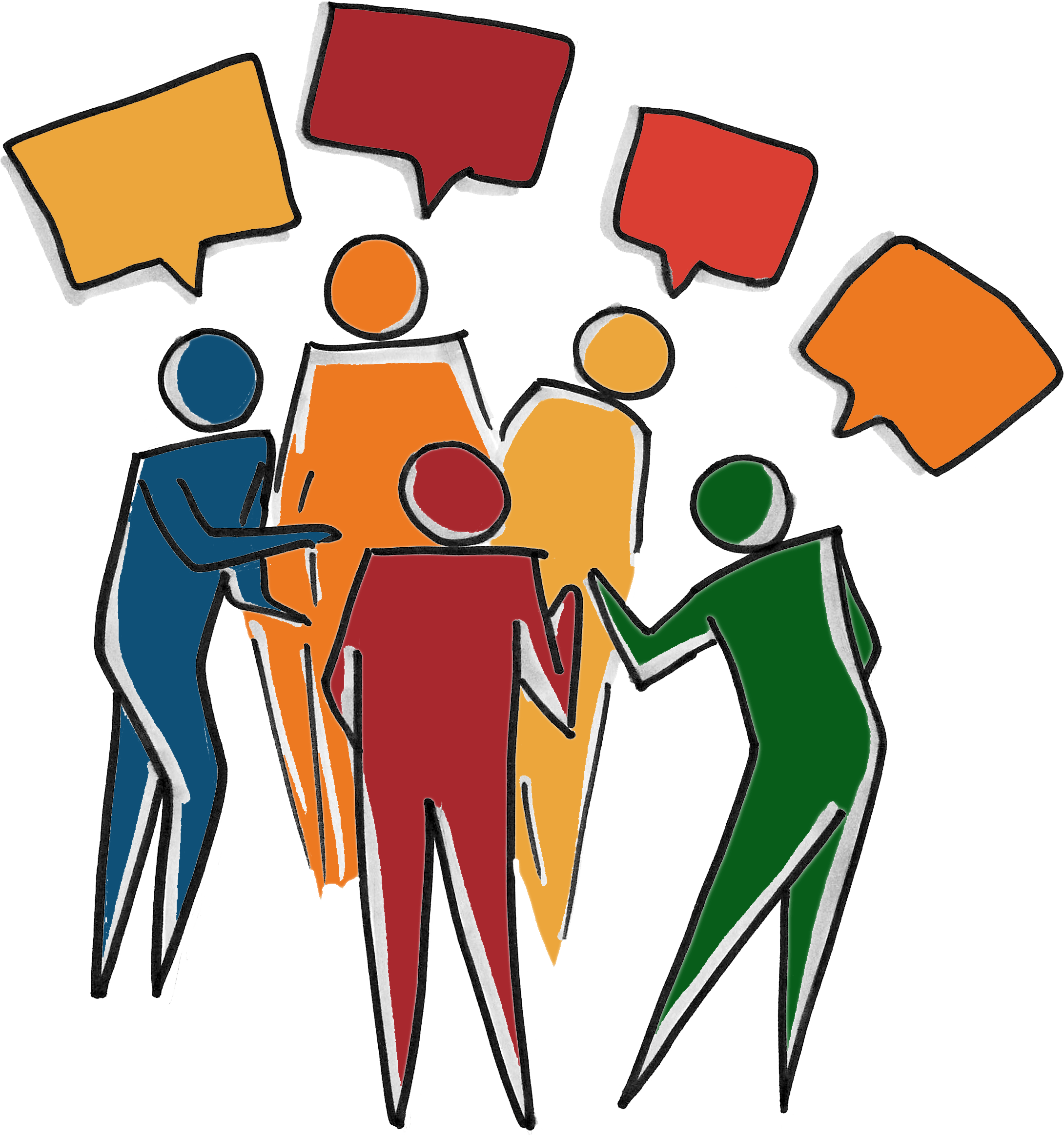 Clipart group talking svg black and white stock HD Inclusive Diverse Team - Group Of People Talking Clipart , Free ... svg black and white stock