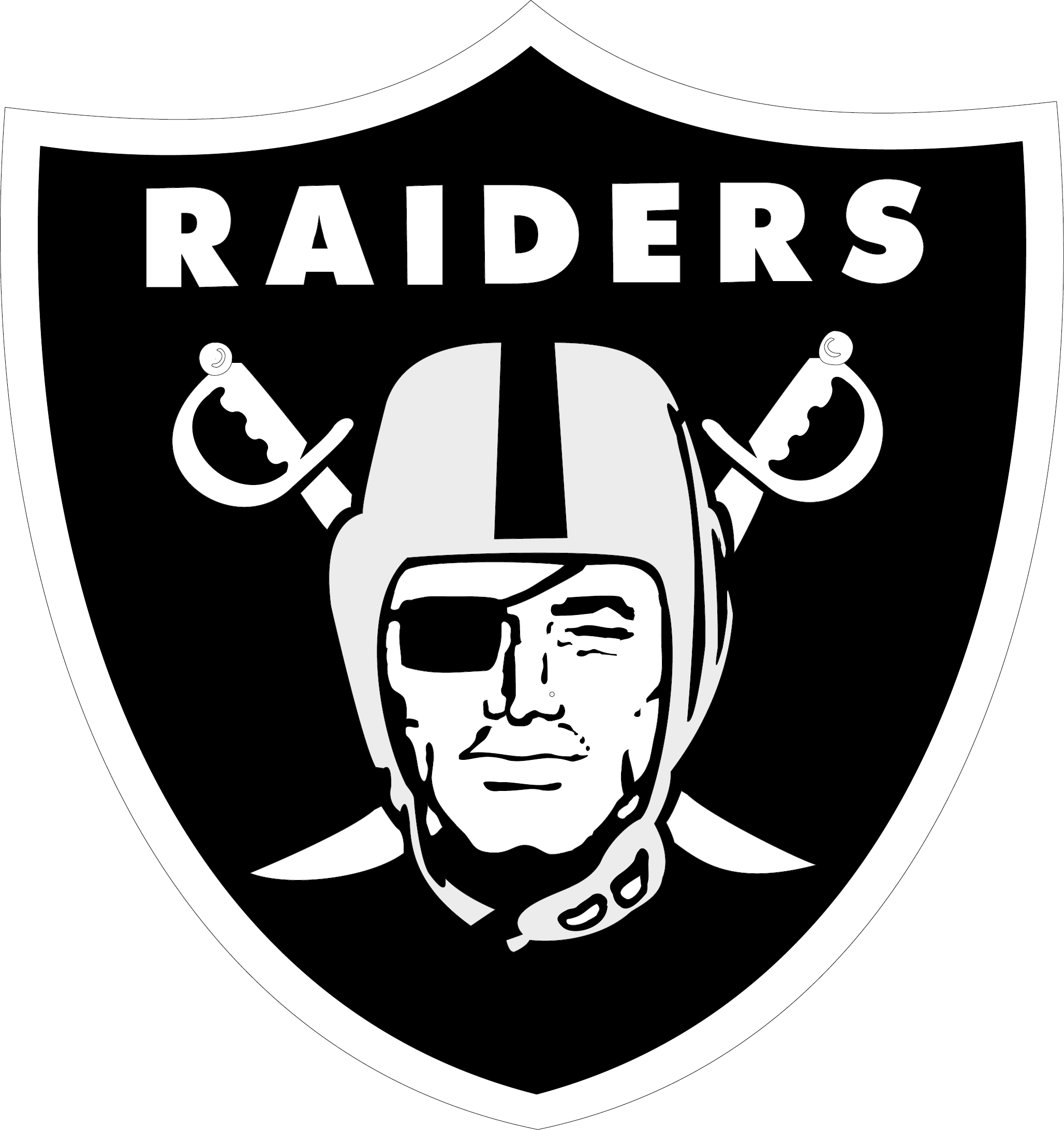 Football clipart eps. Oakland raiders logo vector