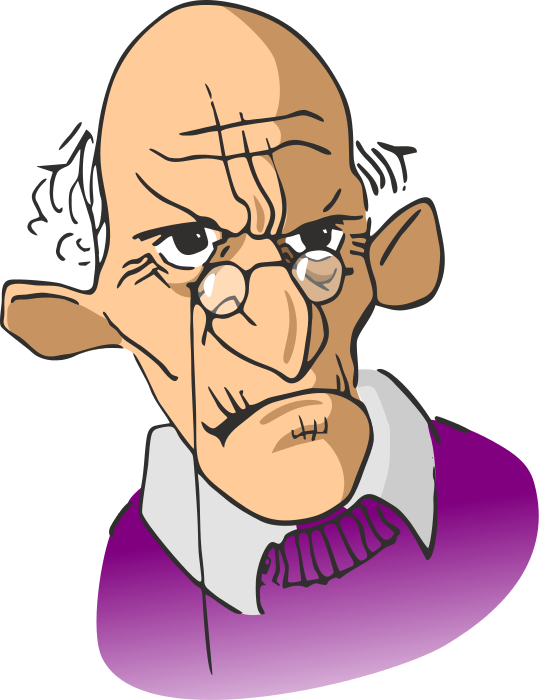 Clipart grumpy old man clip black and white Even Though: Friend Request Accepted | Blog Posts | Old man cartoon ... clip black and white