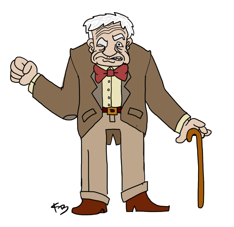 Clipart grumpy old man vector black and white Download Free png Grumpy old man clipart pluspn - DLPNG.com vector black and white
