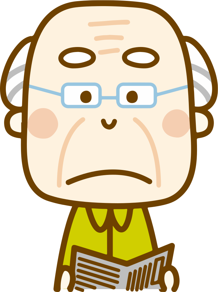 Clipart grumpy old man banner black and white stock OnlineLabels Clip Art - Grumpy Old Man (#1) banner black and white stock