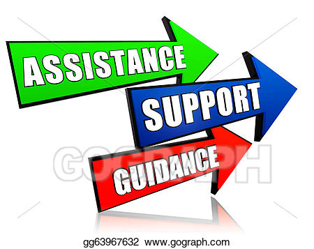 Clipart guidance graphic black and white stock Stock Illustration - Assistance, support, guidance in arrows ... graphic black and white stock