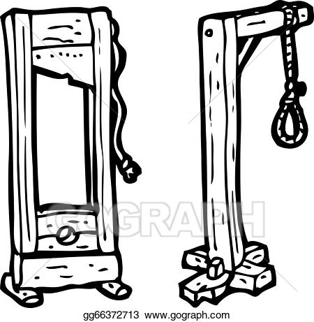 Clipart guillotine clipart transparent library Vector Clipart - Cartoon guillotine and gaols. Vector Illustration ... clipart transparent library