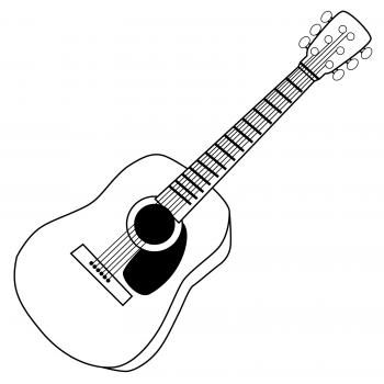 Clipart guitar black and white jpg black and white download Fancy Guitar Clipart Black And White guitar clip art black and white ... jpg black and white download
