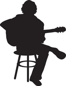 Clipart guitar player svg royalty free download Guitar Player Clipart Image - The Silhouette Of A Male Acoustic ... svg royalty free download