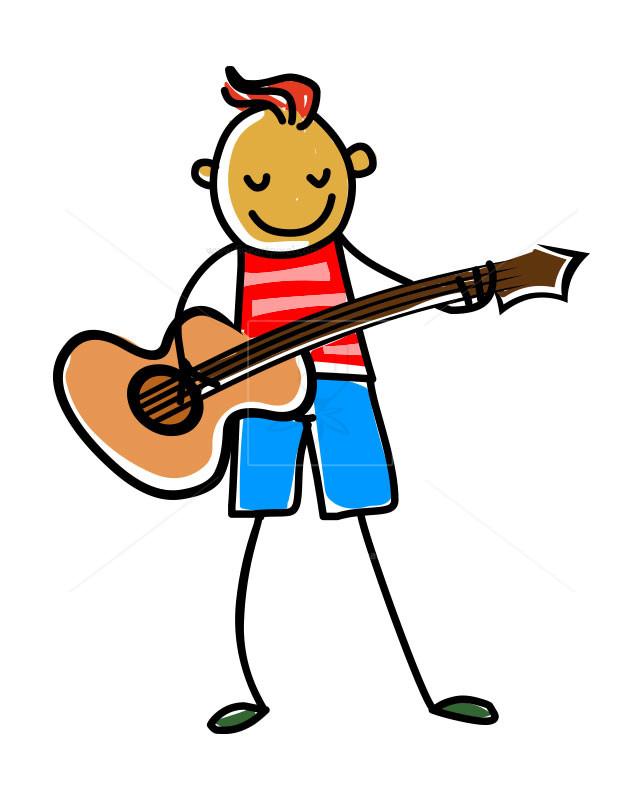 Clipart guitar player clip art free stock Guitar player kid-illustration | Free vectors, illustrations, graphics ... clip art free stock