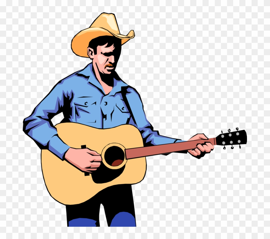 Clipart guitar player picture free library Cowboy Guitar Player Royalty Free Vector Clip Art Illustration - Png ... picture free library