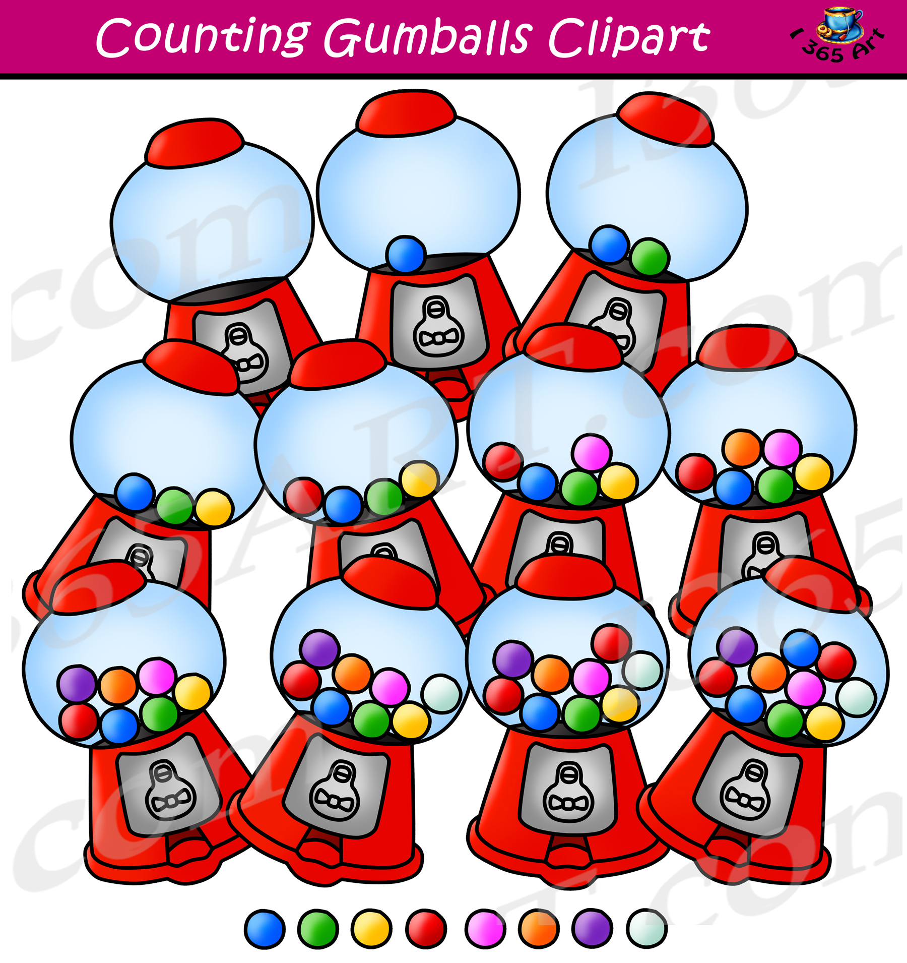 Clipart gumball clip stock Counting Gumballs Clipart - Gumball Machine Clip Art clip stock