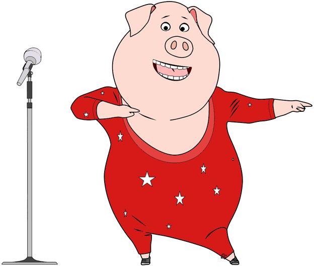 Clipart gunter banner free Sing Movie Clip Art | Cartoon Clip Art banner free