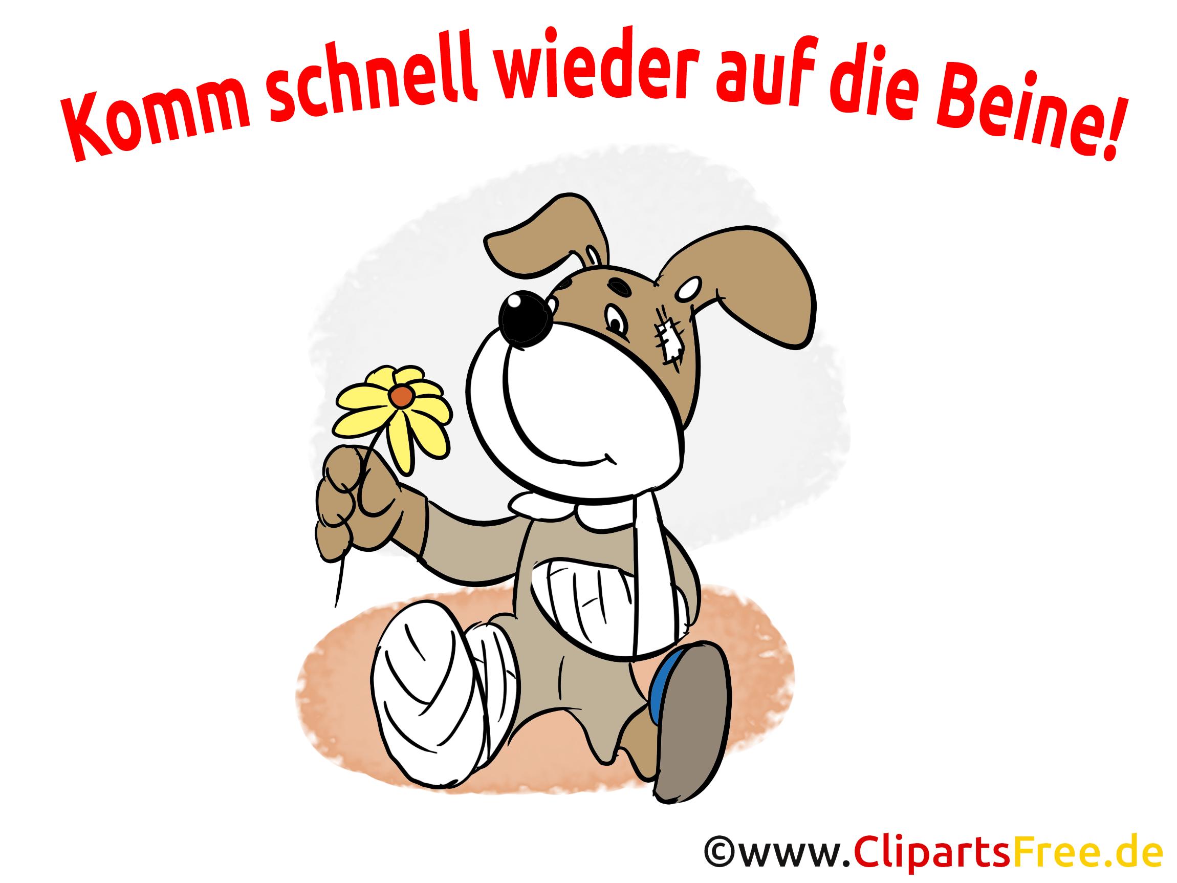 Clipart gute besserung royalty free Gute Besserung Bilder, Cliparts, Cartoons, Grafiken ... royalty free