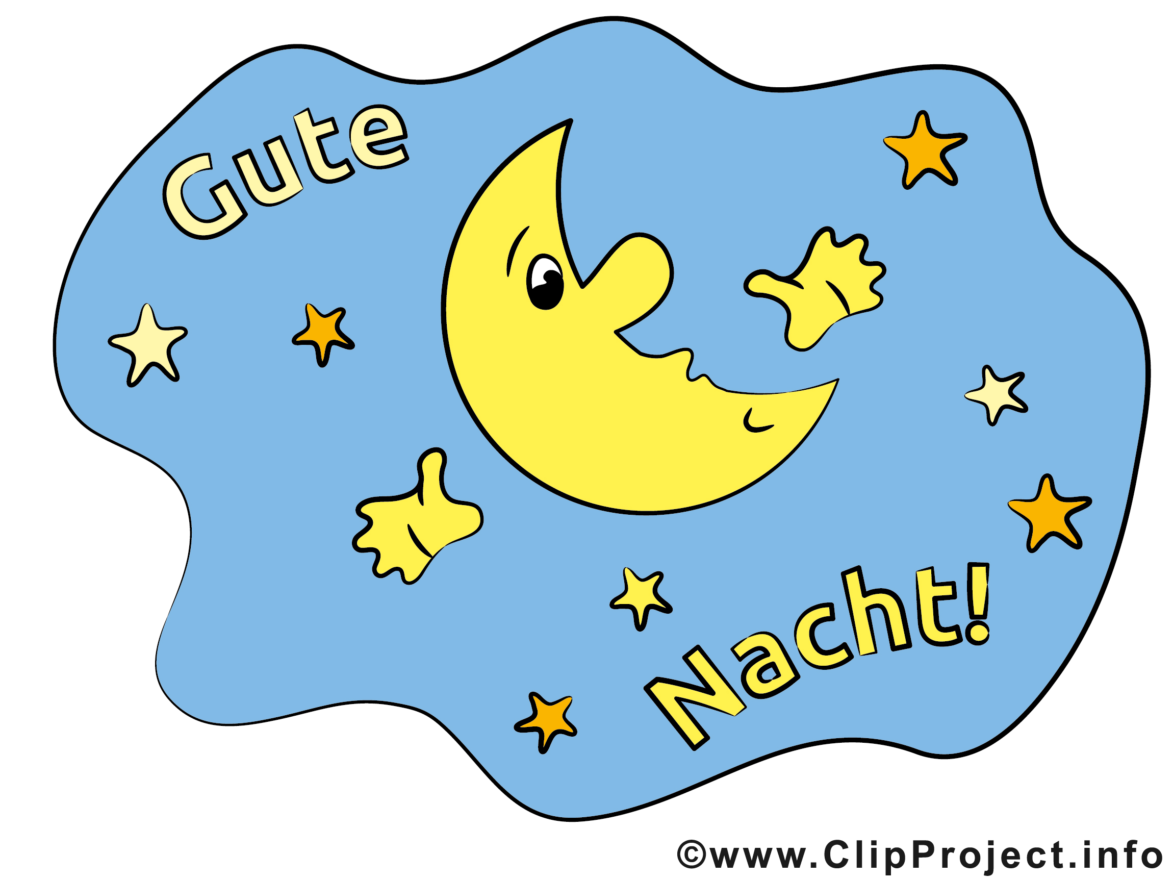 Clipart gute nacht picture black and white stock Gute nacht clipart bilder - ClipartFest picture black and white stock