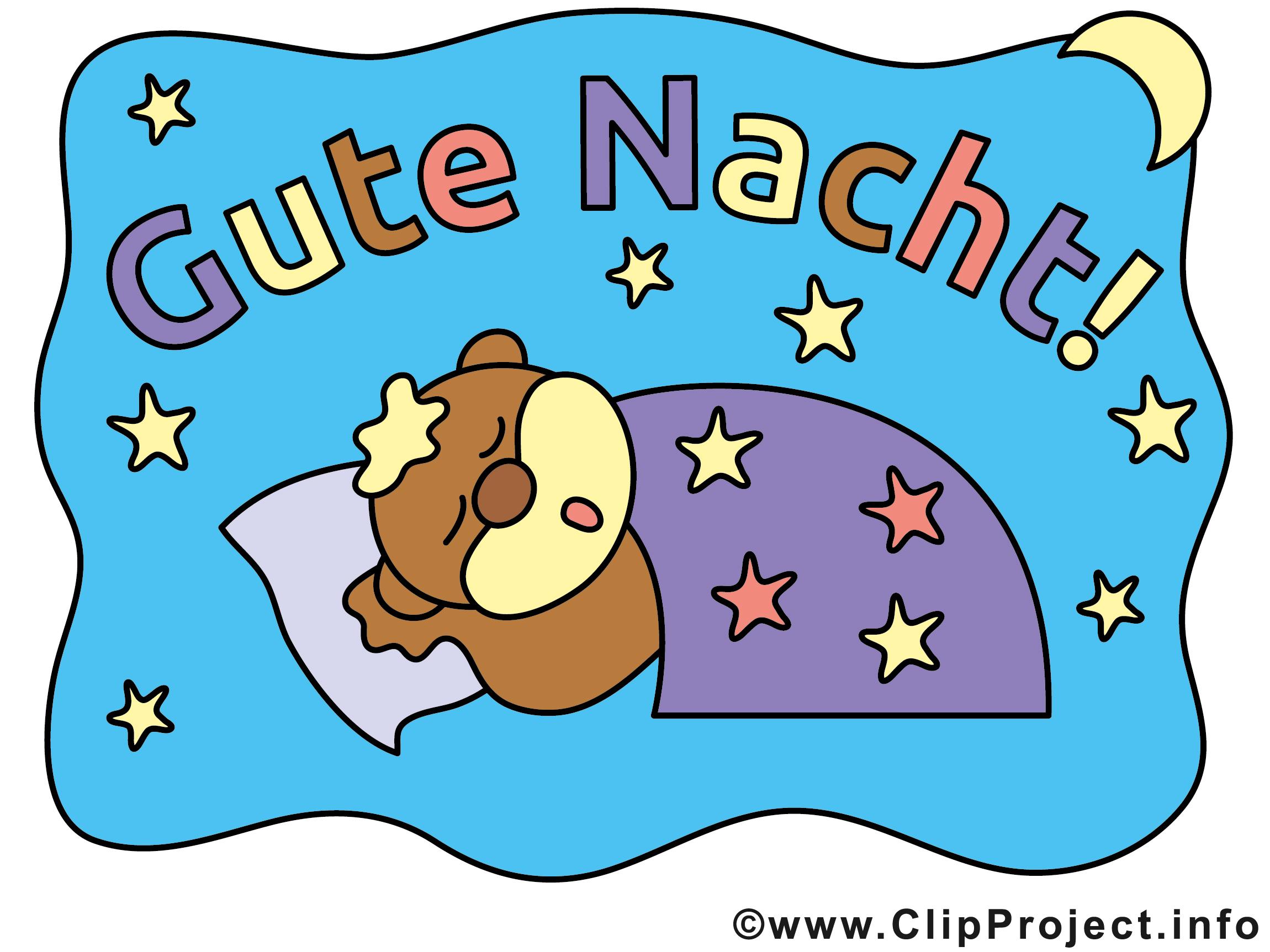 Clipart gute nacht picture black and white download Gute Nacht Bilder, Cliparts, Cartoons, Grafiken, Illustrationen ... picture black and white download