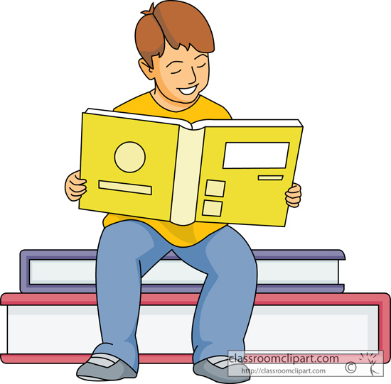 Clipart guy reading on a pile of books graphic freeuse stock Child Reading Book Clipart | Free download best Child Reading Book ... graphic freeuse stock
