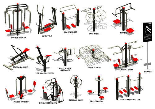 Clipart gym equipment vector royalty free Outdoor Gym Equipment vector royalty free