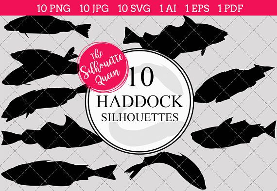 Clipart haddock image black and white download Fishing SVG , Haddock Fish SVG, Haddock Fish Cut File for Cricut ... image black and white download