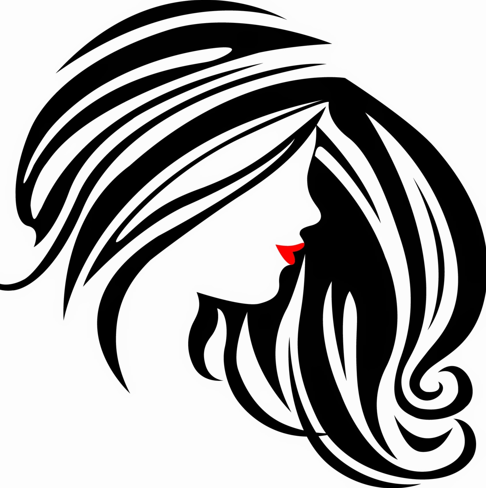 Clipart hair design graphic royalty free Free Hair Salon Clipart Black And White, Download Free Clip Art ... graphic royalty free