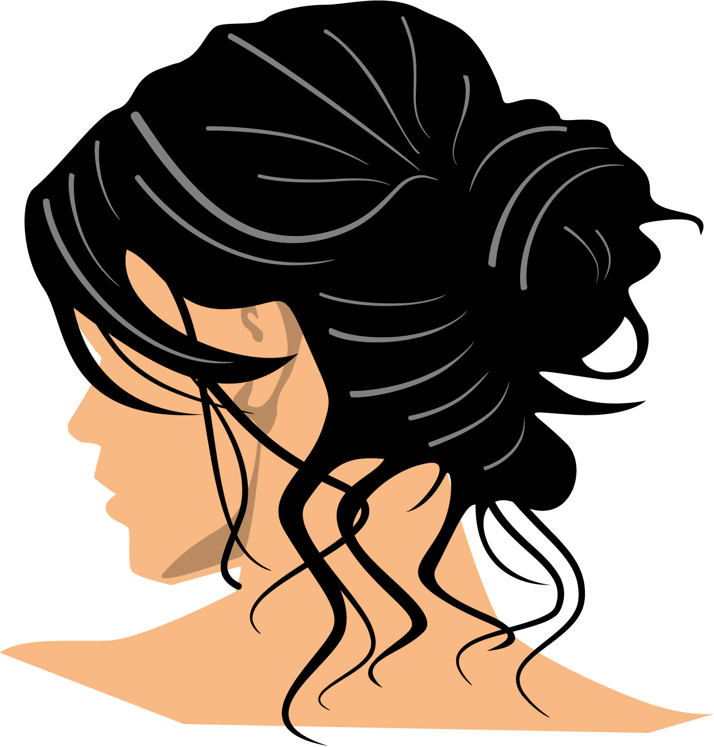 Clipart hair image clipart transparent library Best Hair Clipart #17234 - Clipartion.com clipart transparent library
