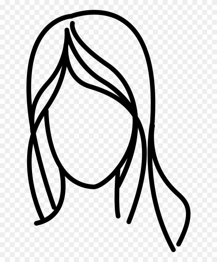 Clipart outline pictures graphic download Black Hair Clipart Hair Outline - Hair Outline Clipart - Png ... graphic download