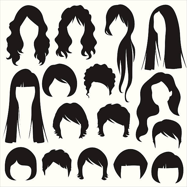 Clipart hair style image black and white stock Hair style clipart 8 » Clipart Station image black and white stock